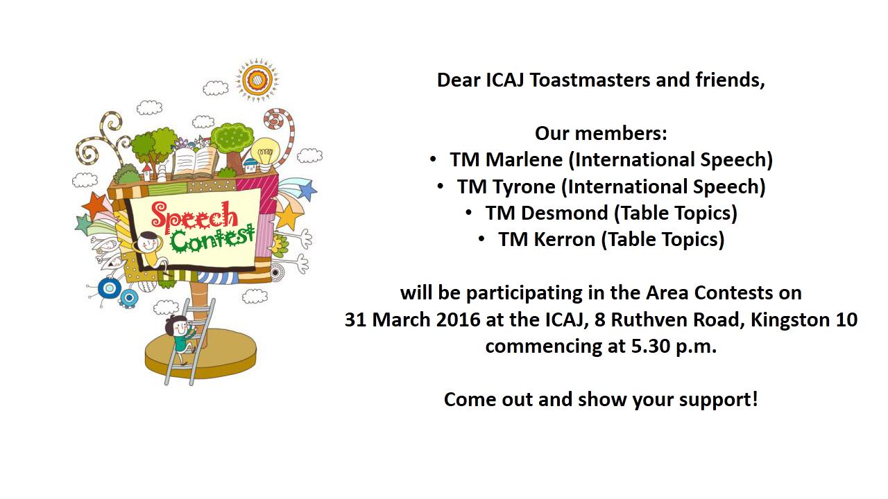 icaj toastmasters club talk up toastmasters campaign